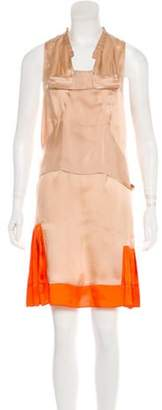 Marni Sleeveless Mini Dress Beige Sleeveless Mini Dress