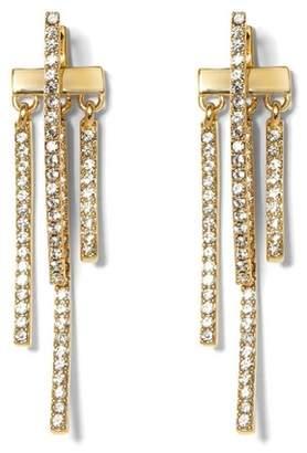Vince Camuto Goldtone Pavé Drop-back Earrings
