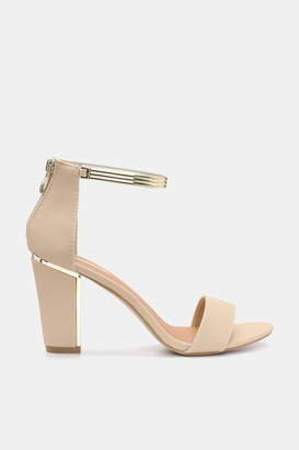 Ardene Gold-Trimmed Faux Leather Sandals
