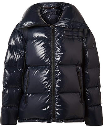 Calvin Klein Oversized Quilted Coated-shell Jacket - Navy