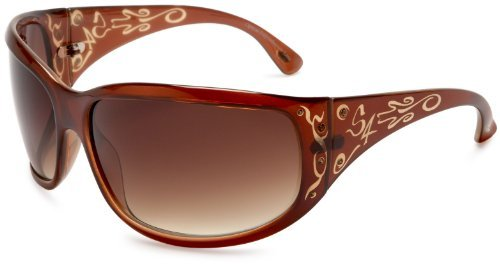 S4 Women's Whynot 791S4 Oversized Resin Sunglasses,Brown Frame/Brown Lens,one size