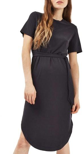 TopshopWomen's Topshop Ribbed Midi Dress