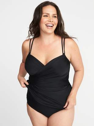 Old Navy Plus-Size Wrap-Front Tankini Top