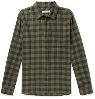 Outerknown Checked Brushed Organic Cotton-Flannel Shirt