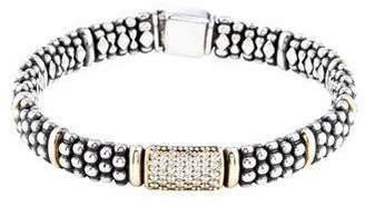 Lagos Diamond Caviar Beaded Bracelet