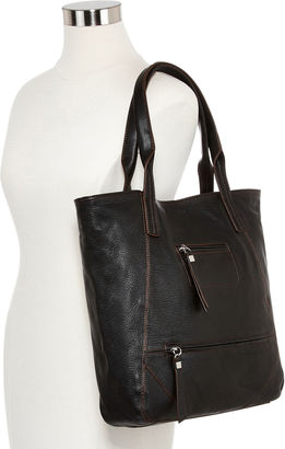 PERLINA Perlina Amsterdam Leather Tote Bag $199 thestylecure.com
