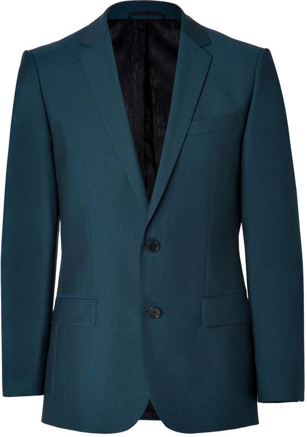 HUGO Wool-Mohair Amaro/Heise Blazer in Open Blue