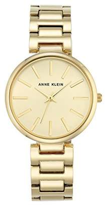 Anne Klein Women's Nora Quartz Watch with Gold Dial Analogue Display and Gold Metal Bracelet AK/N2786CHGB
