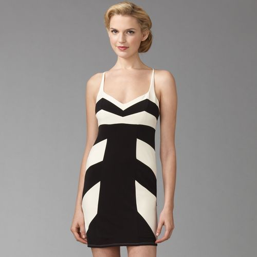 Laundry by Design Striped Seamed Mini Dress
