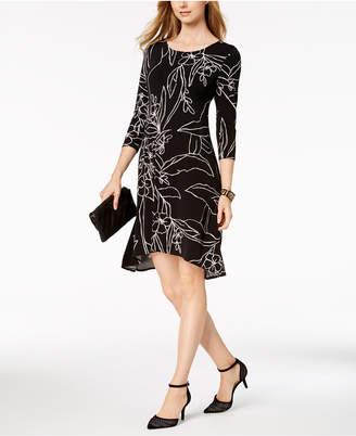 Alfani Printed A-line Dress