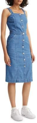 Levi's Cherie Denim Button-Down Dress Mid Stonewash
