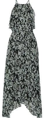 Jason Wu Asymmetric Floral-print Silk-blend Georgette Maxi Dress