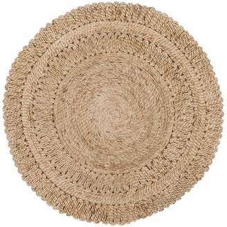 August Grove Bluebell Fiber Hand-Woven Natural Area Rug