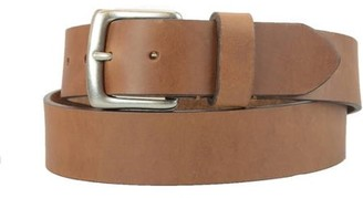 Montauk Leather Club 1-1/2 in. US Steer Hide Harness Leather Men's Belt w/ Antq. Nickel Buckle