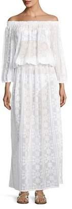 Melissa Odabash Olivia Off-the-Shoulder Lace Maxi Dress, One Size