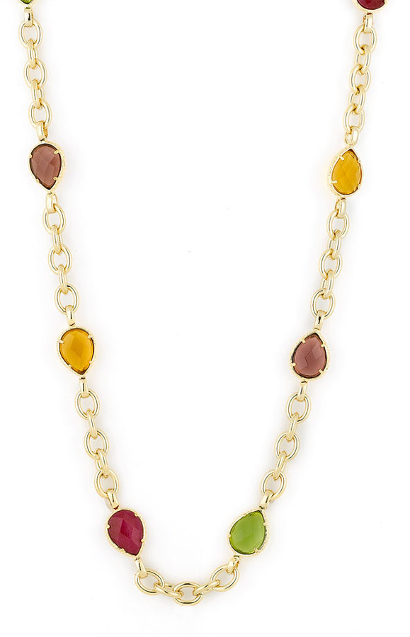 Kendra Scott Long Strand Necklace with Stones