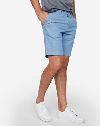 Express Classic Fit 10 Inch Stretch Textured Shorts