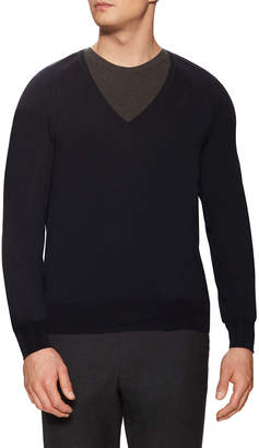 Jil Sander Wool V-Neck Ribbed Sweater