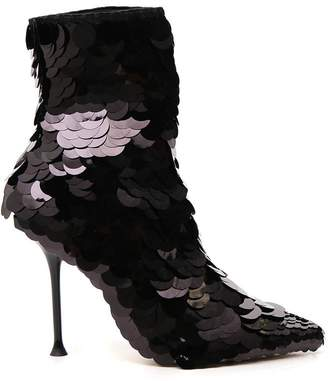 Sergio Rossi Sequin-Looking Ankle Boots