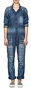 NSF Women's Harlen Distressed Chambray Jumpsuit - Blue