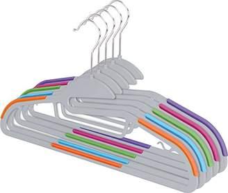 ZOYER TPR Plastic Hangers (30 Pack) Multifunctional Light-Weight Hangers Premium Quality S-Shape Non-Slip Suit & Shirt Hangers with Tie Bar