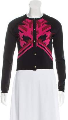Versace Woven Button-Up Cardigan
