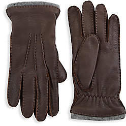 Saks Fifth Avenue Pebbled Leather Gloves