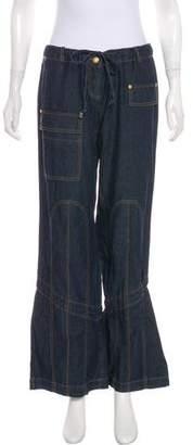 Miss Blumarine Mid-Rise Wide-Leg Jeans