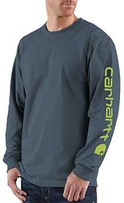 Carhartt Men's Big & Tall Signature-Sleeve Logo Long-Sleeve T-Shirt K231