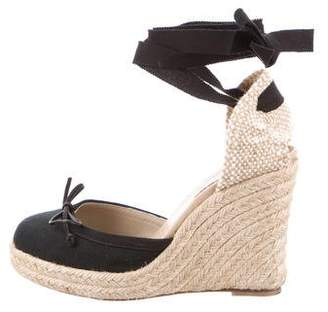 Christian Louboutin Lace-Tie Espadrille Wedges