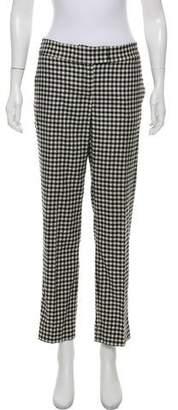 Max & Co. MAX&Co. Gingham Straight-Leg Pants
