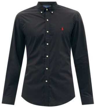 0c75be39 Free Delivery! FREEDEL at MATCHESFASHION.COM · Polo Ralph Lauren Slim Fit  Cotton Poplin Shirt - Mens - Black