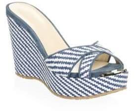 Jimmy Choo Woven Wedge Sandals