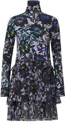 Schumacher Dorothee Exotic Flowering Dress in Blue Ceramic Flower