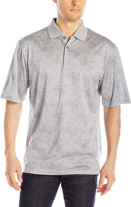 Bugatchi Men's Puzzle Short Sleeve Polo Shirt