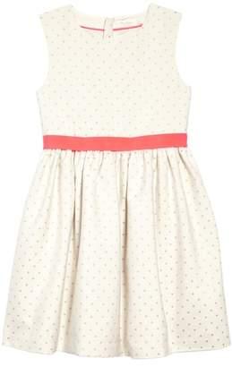 Boden Mini Metallic Dot Fit & Flare Dress