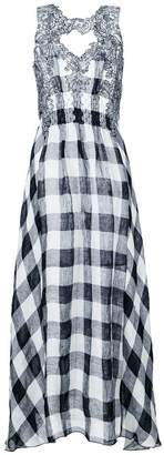 Ermanno Scervino floral embroidered checkered dress