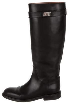 Givenchy Shark-Lock Round-Toe Boots Black Shark-Lock Round-Toe Boots