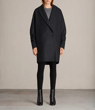 AllSaints Kenzie Ruche Coat