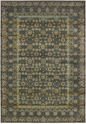 """Oriental Weavers Mantra 507N Gray/Gold 2'3"""" x 7'6"""" Runner Area Rug"""