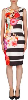 Joseph Ribkoff Banded Floral Dress