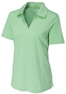Cutter & Buck Women's CB DryTec Medina Tonal Stripe, Sea Green - L