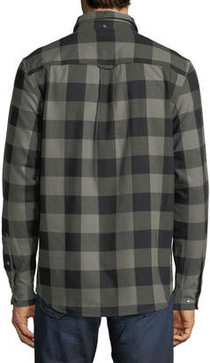 Wesc Plaid-Flannel Button-Down Shirt