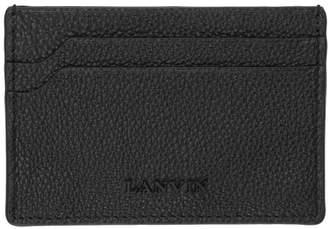 Lanvin Black Logo Card Holder