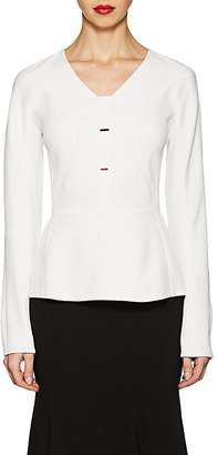 Narciso Rodriguez WOMEN'S CONTOURED-SEAM TWILL BLOUSE
