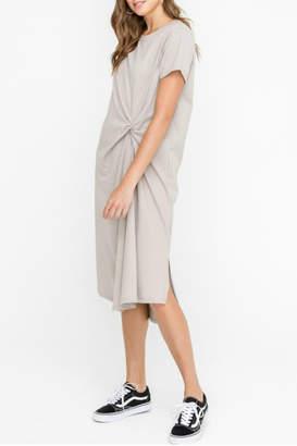 Lush Clothing Knot Twist Midi Dress