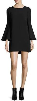 Elizabeth and James Aurora Bell-Sleeve Mini Dress, Black $375 thestylecure.com