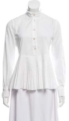Le Sarte Pettegole Long Sleeve Button-Up Top