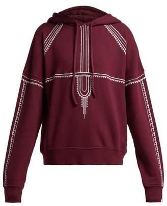The Upside Phoenix Embroidered Cotton Sweatshirt - Womens - Burgundy White