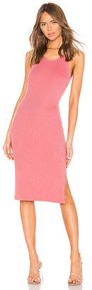 Monrow Rib Tank Dress with Side Slit